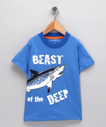 Blue 'Beast of the Deep' Tee - Infant & Toddler