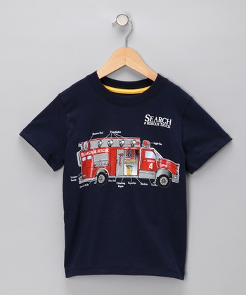 Navy 'Search & Rescue' Tee - Infant