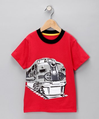 Red Big Train Tee - Infant