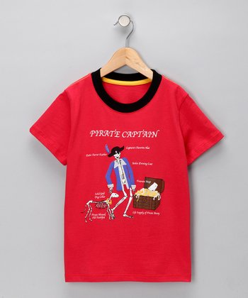 Red 'Pirate Captain' Tee - Infant