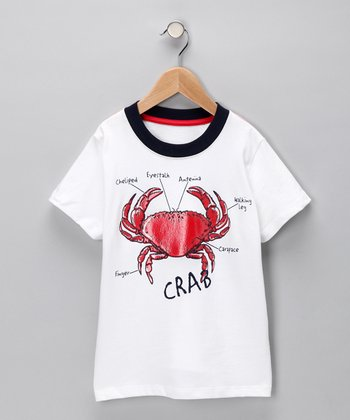 White 'Crab' Tee - Infant