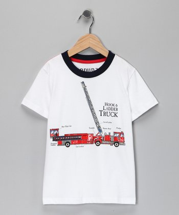 White 'Hook & Ladder Truck' Tee - Infant