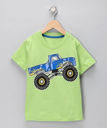Lime Green Monster Truck Tee - Infant