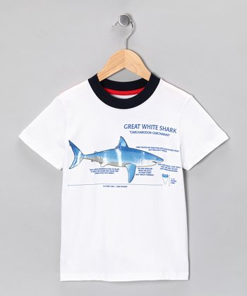 White 'Great White Shark' Tee - Infant