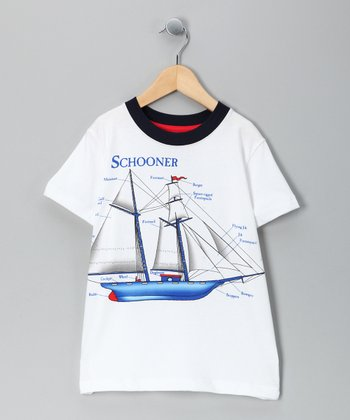 White 'Schooner' Tee - Infant