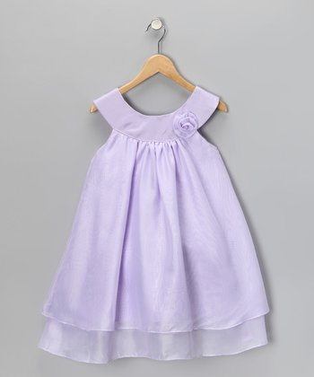 Lilac Yoke Dress - Toddler & Girls