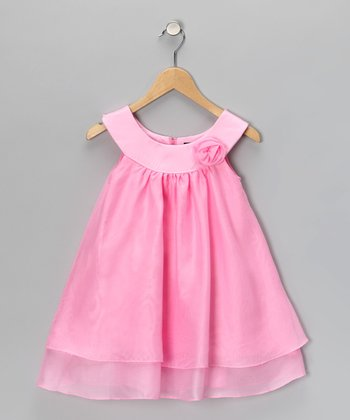 Pink Yoke Dress - Toddler & Girls