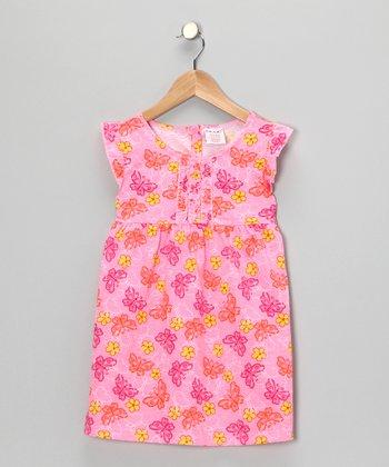 S.W.A.K. Pink Butterfly Dress - Girls