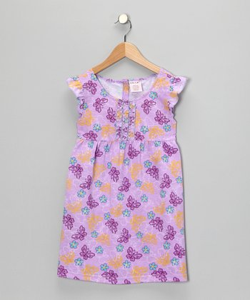 Purple Butterfly Dress - Girls