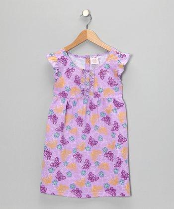 S.W.A.K. Purple Butterfly Dress - Girls