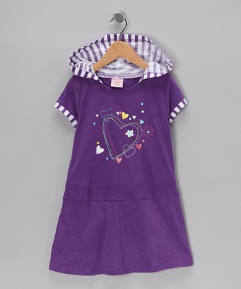 Purple Heart Dress - Toddler