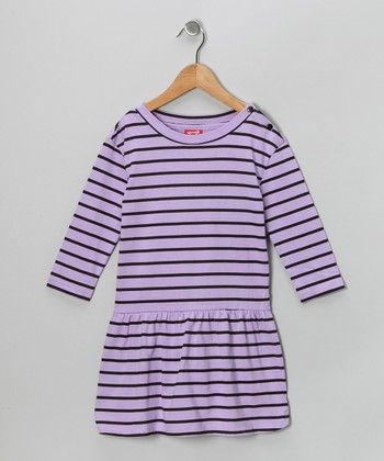 Purple Stripe Dress - Toddler & Girls
