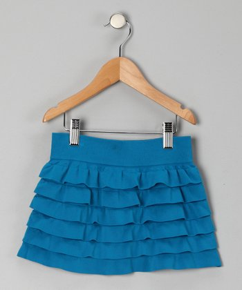 Turquoise Ruffle Tiered Skirt - Toddler