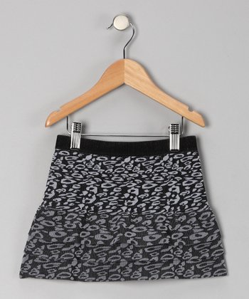 Black Cheetah Tiered Skirt - Girls