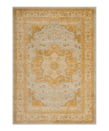 Light Gray & Gold Kamran Rug
