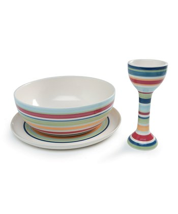 Stripe Breakfast Serving Set
