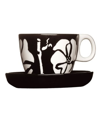 Flora Espresso Cup & Saucer - Set of Two