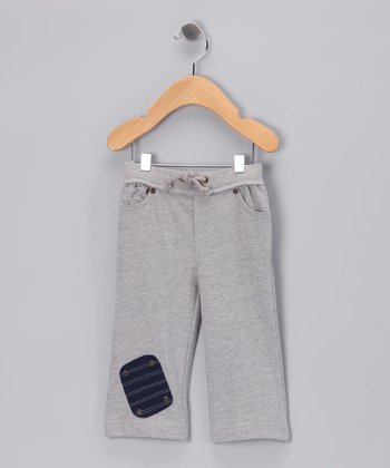 Cement Gray Five-Pocket Organic Pants - Infant & Toddler