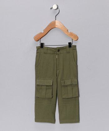 Olive Organic Cargo Pants - Infant & Toddler