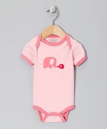 Pink Elephant Organic Bodysuit - Infant