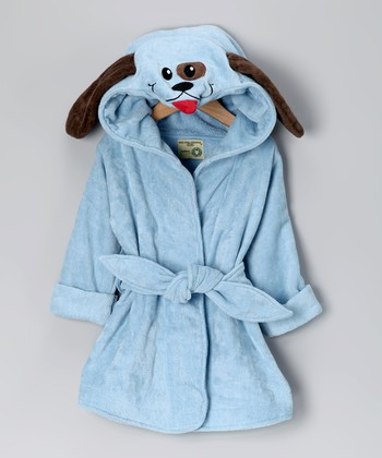 Blue Dog Organic Hooded Robe - Infant & Toddler