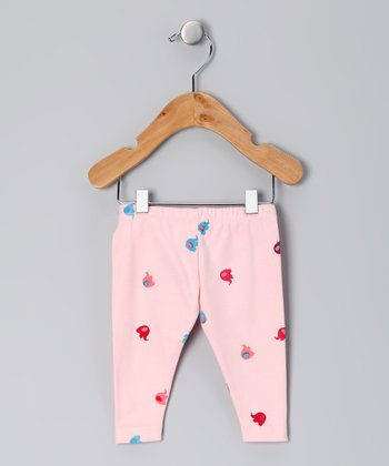 Pink Elephant Organic Leggings - Infant