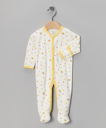 Yellow Bee Mine Organic Footie - Infant