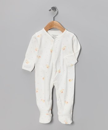 White Heirloom Duck Organic Footie - Infant