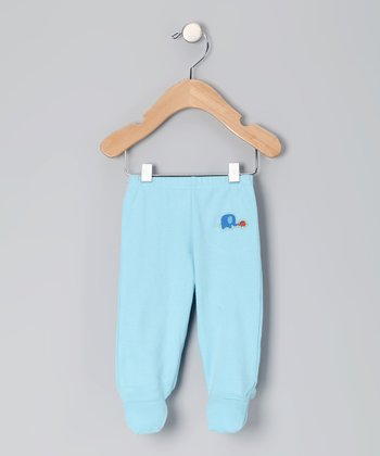 Blue Elephant Organic Footie Pants