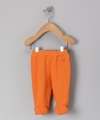 Deep Mandarin Organic Footie Pants - Infant