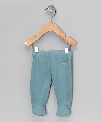 Blue Farm Friends Organic Footie Pants - Infant
