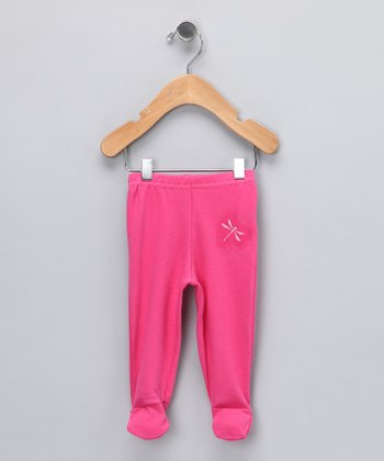 Fuchsia Dragonfly Organic Footie Pants - Infant