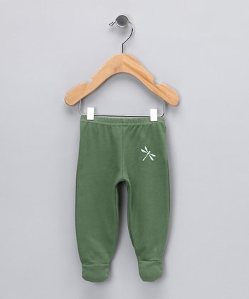Leaf Dragonfly Organic Footie Pants - Infant