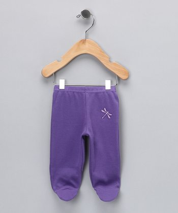 Plum Dragonfly Organic Footie Pants - Infant