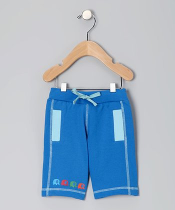 Dark Blue Elephant Organic Shorts - Infant