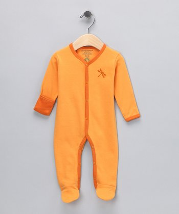 Apricot Dragonfly Organic Footie - Infant