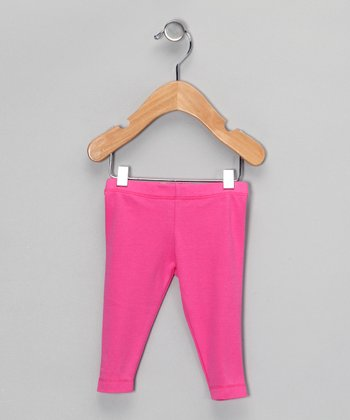 Pink Organic Leggings - Infant