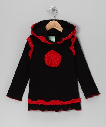 Black & Red Blossom Hoodie - Infant, Toddler & Girls