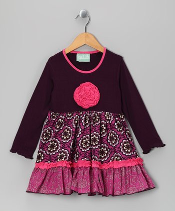 Pink & Purple Bohemian Spirit Caroline Dress - Toddler & Girls