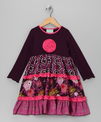 Pink & Purple Bohemian Spirit Katie Dress - Toddler & Girls