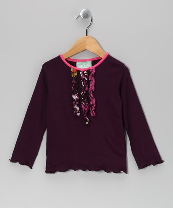 Purple Bohemian Spirit Ruffle Tee - Infant, Toddler & Girls