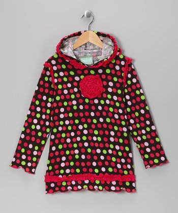 Brown Wandering Flower Hoodie - Infant, Toddler & Girls