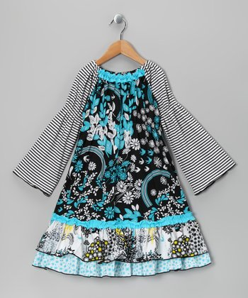 Blue Magic Garden Hannah Dress - Toddler & Girls