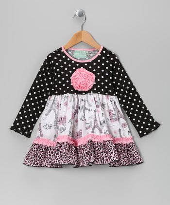 Black & Pink Party in Paris Caroline Dress - Infant & Toddler