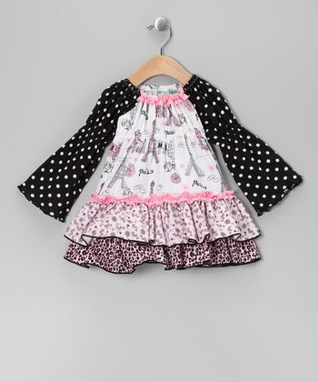 Black Party in Paris Hannah Dress - Infant, Toddler & Girls