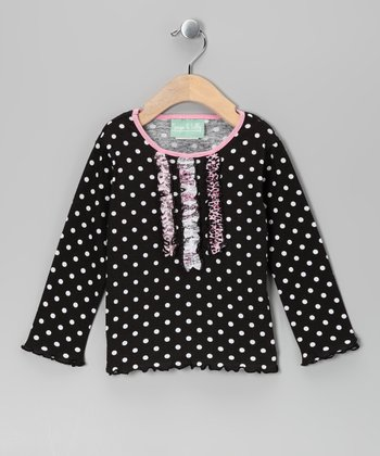 Black & Pink Party in Paris Ruffle Tee - Infant, Toddler & Girls