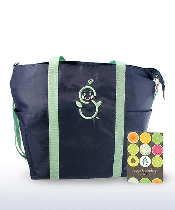 Sage Mommy Tote & Pocket Guide
