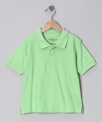 Green Pique Polo - Boys