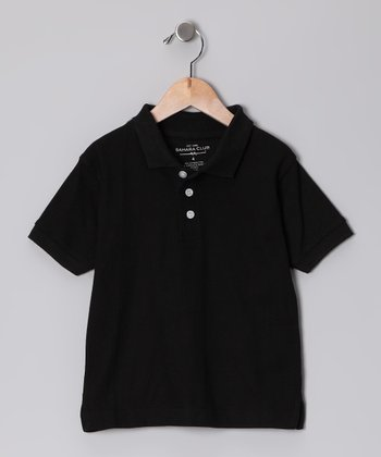 Sahara Club Black Polo - Toddler & Boys