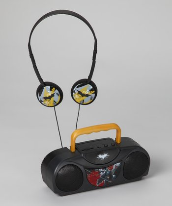 Batman FM Twin Speaker Stereo & Headphone Set